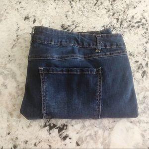 Cato Raw Hem Slit Denim Ankle Jeans 18W